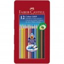 Faber-Castell 12er COLOUR GRIP Farbstifte im Metalletui