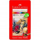 Faber-Castell 12er Classic Colours Farbstifte im Metalletui