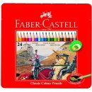 Faber-Castell 24er Classic Colours Farbstifte im Metalletui