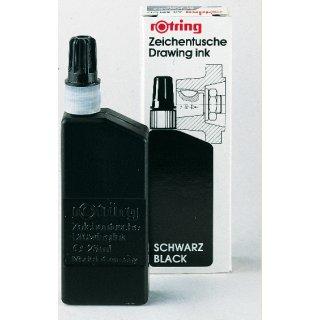 Rotring Tuscheflaschen, 23ml Inhalt, Erhältliche Farben: Schwarz, Rot, Blau, Weiß