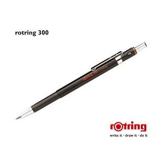 Rotring Fallminenstift 300er Serie, schwarz, 2,0 mm