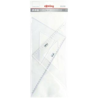 Rotring Zeichendreiecke, 2er-Set, je ein 45° und 30°/60° Dreieck