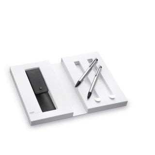 Lamy Set Druckbleistift/Kugelschreiber Lamy logo (105/205) im Geschenketui mit Lederetui