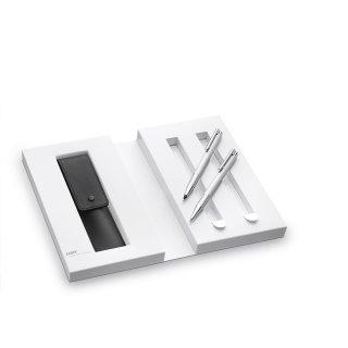 Lamy Set Druckbleistift/Kugelschreiber Lamy logo (106/206) im Geschenketui mit Lederetui