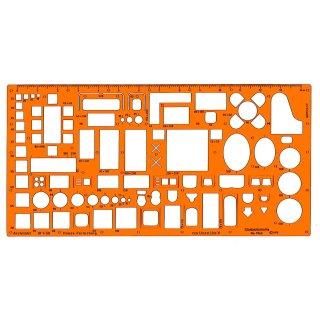 Standardgraph Zeichenschablone Architekt Möblierungsschablone 1:50