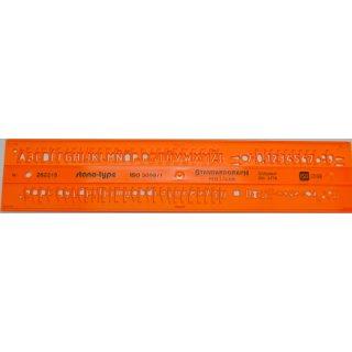 Standardgraph Schriftschablone mit Zeilenabstand