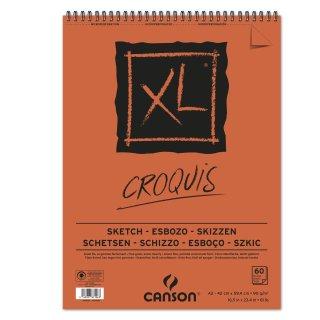 Canson Skizzenblock XL mit doppelter Spirale an der kurzen Seite, 90g/m², A2, 60 Blatt