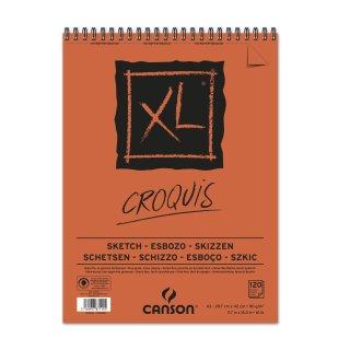 Canson Skizzenblock XL mit doppelter Spirale an der kurzen Seite, 90g/m², A3, 120 Blatt