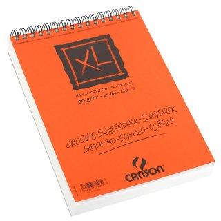 Canson Skizzenblock XL mit doppelter Spirale an der kurzen Seite, 90g/m², A4, 120 Blatt