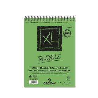 Canson Skizzenblock XL Recycled mit doppelter Spirale an der kurzen Seite, 160g/m², A5, 25 Blatt