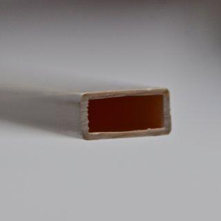 Kunststoff-Vierkant-Flachrohr-Stäbe, weiß, matt, Länge: 1mtr. Maße: 12,0 x 6,0mm