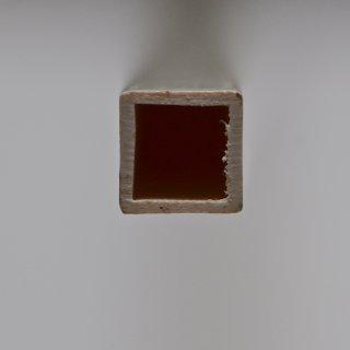 Kunststoff Vierkantrohr, weiß, matt, Länge: 1mtr.