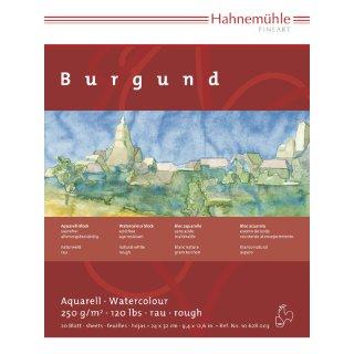 Hahnemühle Aquarellkarton Burgund Aquarellblock 250 g/m² Größe: 36 x 48 cm / Blockinhalt: 20 Blatt