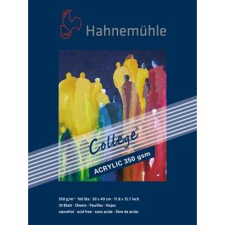Hahnemühle College Acrylblock / Acrylmalkarton 350 g/m² Größe: 30 x 40 cm / Blockinhalt: 10 Blatt