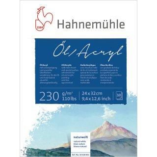 Hahnemühle Öl- und Acrylmalkarton 230 g/m² Größe: 24 x 32 cm / Blockinhalt: 10 Blatt