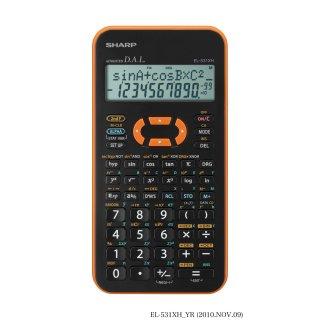 SHARP Schulrechner EL-531XH Orange