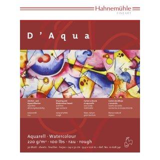 Hahnemühle DAqua Aquarellblock / Aquarellkarton 220 g/m² Größe: 30 x 40cm / Blockinhalt: 30 Blatt