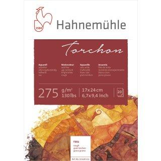 Hahnemühle Torchon Aquarellpapierblock / Aquarellkarton 275 g/m² Größe: 17 x 24cm / Blockinhalt: 20 Blatt