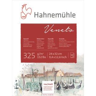 Hahnemühle Veneto Aquarellblock / Aquarellkarton 325 g/m² Größe: 24 x 32cm / Blockinhalt: 12 Blatt