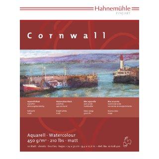 Hahnemühle Aquarellkarton Cornwall Aquarellblock 450 g/m² Größe: 17 x 24 cm / Blockinhalt: 10 Blatt