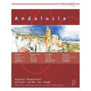 Hahnemühle Andalucia Aquarellkarton Block 500 g/m² Größe: 36 x 48cm / Blockinhalt: 12 Blatt