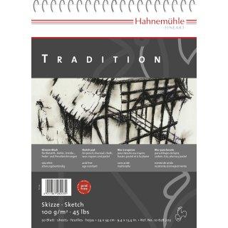 Hahnemühle Tradition Skizzenblock, 17 x 24cm / 100 g/m² / 50 Blatt