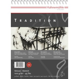 Hahnemühle Tradition Skizzenblock, 34 x 48cm / 100 g/m² / 50 Blatt