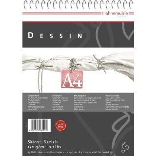 Hahnemühle Dessin Skizzenblock, DIN A4 / 150 g/m² / 25 Blatt