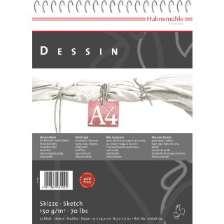 Hahnemühle Dessin Skizzenblock, DIN A2 / 150 g/m² / 25 Blatt