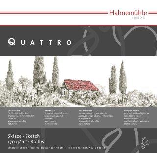 Hahnemühle Quattro Skizzenblock, 30,0 x 30,0cm / 170 g/m² / 50 Blatt