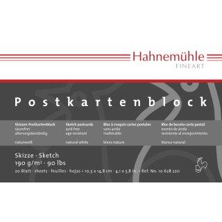 Hahnemühle Skizzen-Postkartenblock, 10,5 x 14,8cm / 190 g/m² / 20 Blatt