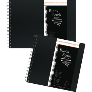 Hahnemühle Black Book Skizzenbuch, Format DIN A5, 250 g/m², 30 Blatt
