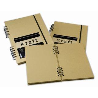 Hahnemühle Kraftpapier Skizzenbuch, Format DIN A5, 120 g/m², 80 Blatt