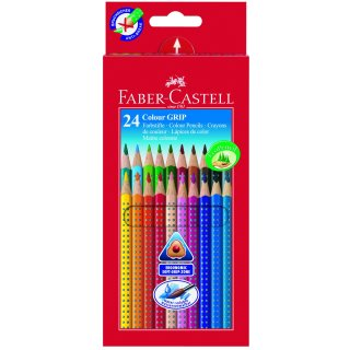 Faber-Castell 24er Colour GRIP 2001 Farbstifte im Kartonetui