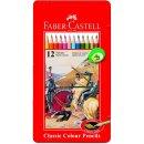 Faber-Castell 12er Classic Colours Farbstifte im Metalletui