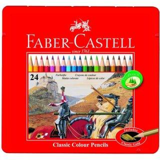 Faber-Castell 24er Classic Colours Farbstifte im Metalletui