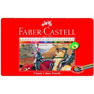 Faber-Castell 36er Classic Colours Farbstifte im Metalletui