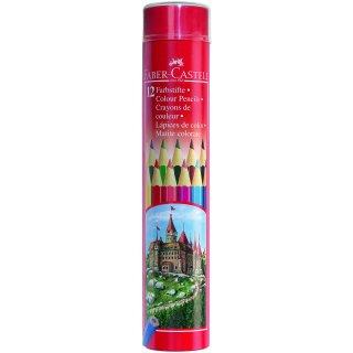 Faber-Castell 12er Classic Colours Farbstifte in Runddosen