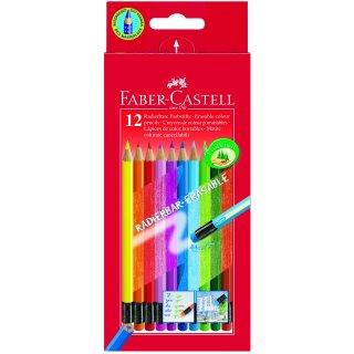 Faber-Castell 12er Classic Colours radierbare Farbstifte im Kartonetui