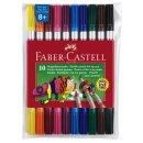 Faber-Castell Doppelfasermaler, 10er Etui