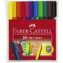 Faber-Castell Clip Colours, 10er Kunststoffetui