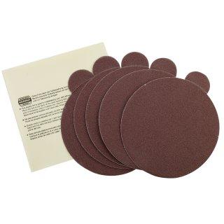 Proxxon Selbstklebende Edelkorund-Schleifscheiben für TG 125/E, Korn 80, 5 Stück