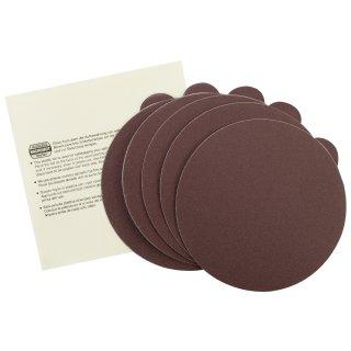 Proxxon Selbstklebende Edelkorund-Schleifscheiben für TG 125/E, Korn 150, 5 Stück