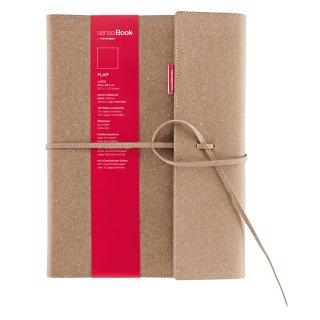 senseBook FLAP, Large, kariert - 205 x 285mm, 135 nummerierte Seiten