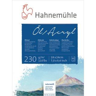 Hahnemühle Öl- und Acrylmalkarton 230 g/m² Größe: 18 x 24 cm / Blockinhalt: 10 Blatt