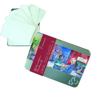 Hahnemühle Aquarell- Postkarten in der Metallbox, 30 Karten Inhalt