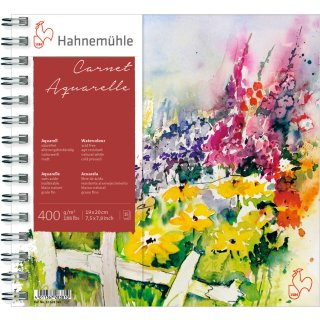Hahnemühle Akademie Carnet Aquarellkarton 400 g/m², Größe: 19 x 20 cm / Blockinhalt: 15 Blatt