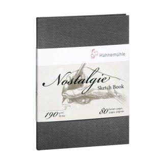 Hahnemühle Nostalgie Skizzenbuch DIN A4, Portraitformat, 190 g/m², 40 Blatt
