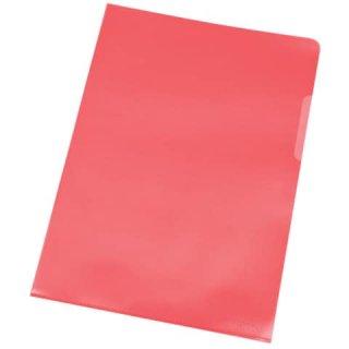 Sichthülle A4 100 Stück rot genarbt KF00306 PP 0,12 mm
