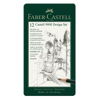 Castell 9000 Bleistift, Design Set, 12er Metalletui